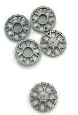 Lego 5 New Flat Silver Wheel Cover 7 Spoke Y Shape Pieces