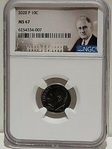 2020-P Roosevelt Dime NGC MS67