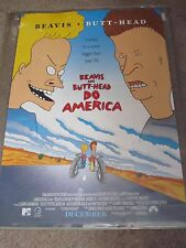 "Beavis & Butt-Head Do America 27"" x 40"" Double Sided Movie Theater Teaser Poster"