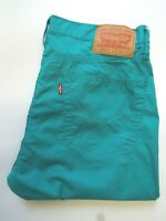 LEVI'S 511 JEANS MEN'S STRETCH SLIM FIT W36 L30 AQUA GREEN STRAUSS LEVr373