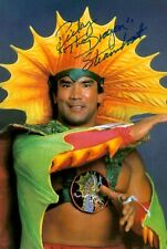 More details for ricky the dragon steamboat signed 6x4 photo wwf wwe wrestling autograph + coa
