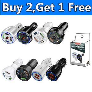 5 USB Port Fast Car Charger Adapter for iPhone Samsung Android Cell Phone Tablet