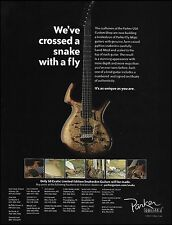 The 2007 Parker Fly Mojo Snakeskin guitar ad 8 x 11 advertisement