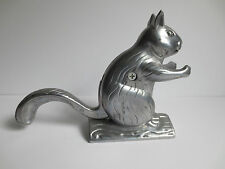 "Novelty Cast Aluminum Squirrel Nut Craker 6"" High"
