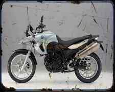 BMW F650Gs 08 A4 Metal Sign moto antigua añejada De