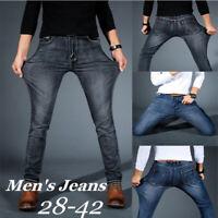 US Mens Slim Fit Stretch Jeans Comfy Super Flex Denim Pants Skinny Trousers