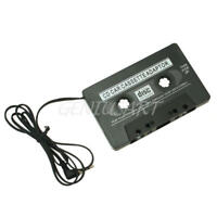 Black Car Tape Cassette to 3.5mm AUX Audio Adapter for Mobile Phone MP3 Player