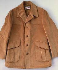 Vintage 70s McGregor Mens Tan Corduroy Western Rancher Barn Coat Jacket Sz 42
