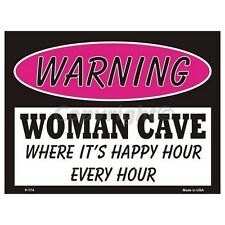Sign - Woman Cave - Where Its Happy Hour Wall Art Home Decor Picture Gift