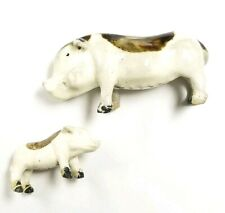 Vintage Porcelain Mother & Baby Pig Figurines Collectibles