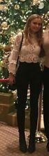 White lace size 6 feminine top good condition bell sleeve occasional spring