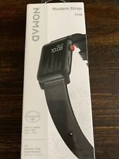 Nomad Modern Strap Leather Watch Strap For Apple Watch 42 Black NEW!