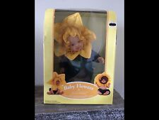 Anne Geddes Daffodil Doll – 15 inch Vinyl Baby in Yellow Flower Outfit