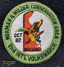 LMH Patch  1982 VOLKSSPORT Walking Club IVV AVA Volksmarch Norman Wilder Area DE