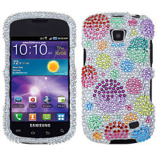 Samsung Galaxy Proclaim Crystal Diamond BLING Hard Case Cover Rainbow Bubbles