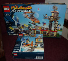 LEGO Island Xtreme Stunts lot of 2 6736 Beach Lookout & 6740 Xtreme Tower