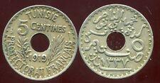 TUNISIE  5 centimes 1919  ( bis )