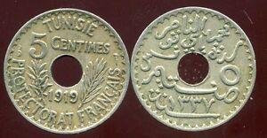 TUNISIE  5 centimes 1919