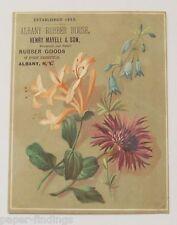 Albany Rubber Goods Victorian Trade Card Henry Mayell & Son Albany NY