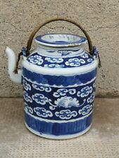 Ancienne théière antique teapot Chinese blue white porcelain