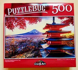 Chureito Pagoda Mt. Fuji Japan Puzzlebug 500 piece New 18.25 x 11 Free Shipping