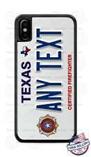 Texas Certified Firefighter Customized Phone Case For iPhone Samsung LG Google