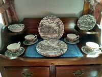 Vintage Royal Mail Fine Staffordshire Ironstone England Dinner Set 20 pc