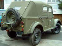 GAZ 69 AM, Verdeck, neues, handgemachtes Stoffverdeck, Plane in khaki-grün