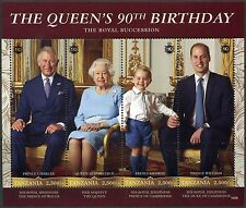 TANZANIA  2016 THE QUEEN'S 90th BIRTHDAY SHEET WITH WILLIAM, CHARLES & GEORGE NH