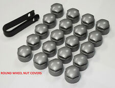 NEW! AUDI A1 A3 A4 A5 A6 A7 TT BOLT WHEEL NUT COVERS CAPS 17mm ALLOY GREY ROUND