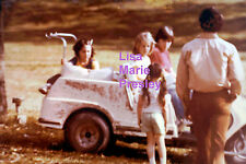 LISA MARIE PRESLEY ON GOLF CART JUNE 1977 ELVIS VINTAGE OLD KODAK PHOTO CANDID
