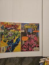 Marvel GI Joe and Transformers Comics Issues 140 & 141 Snake Eyes