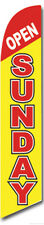 Open Sunday Feather Flags Banner Sign Same Day Ship