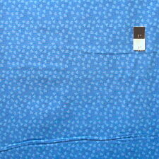 Nel Whatmore PWNW086 Ghost Leaf Dot Blue Cotton Fabric By Yard