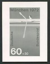 """BUND FOTO-ESSAY 719/722 OLYMPIA 1972 UNVERAUSG. WERT """"RUDERN"""" PHOTO-ESSAY e290"""