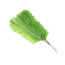 5X Lifelike Artificial Green Palm Branch Leaves Wedding Party Home Decor 38cmP&C