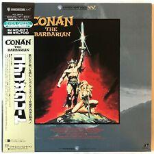 Conan the Barbarian LD Laserdisc Japan  Arnold Schwarzenegger w/OBI NJL-38519
