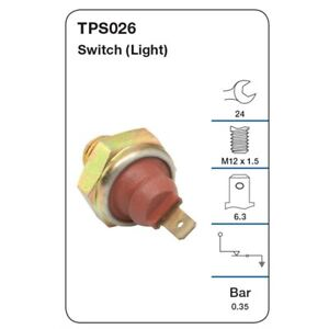 Tridon Oil Pressure Switch TPS026 fits Smart Fortwo 0.7 (450) 45kw