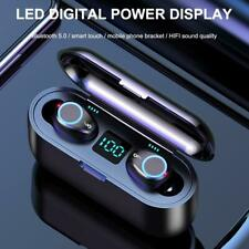 F9 TWS Breathing Light Digital Display Touch Headset Stereo Bluetooth Headphone