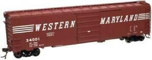 ATLAS 20001459 HO 50' PW SD BOX CAR WESTERN MARYLAND 34054