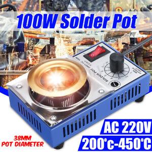 220V 100W Solder Pot Soldering Desoldering Bath Titanium Melting Plat ☆