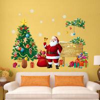 autocollant de mur de Noël amovible art vinyle maison et fenêtre décalque décor9