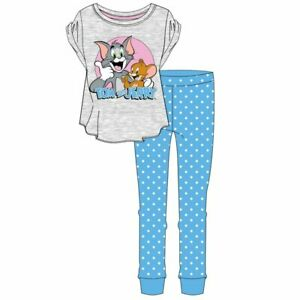 NEW Ladies Cotton 'Tom and Jerry'  Pyjamas Nightwear/Loungewear