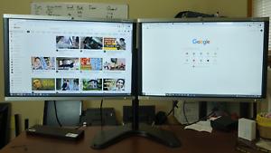 B-Matching Dual 24inch Monitor w/Heavy Duty Stand &Dock HP LA2405x Full HD B2021
