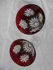 WATERFORD  Snow Crystals Ruby Red Champagne Flutes   2003  RARE!  SET OF 12