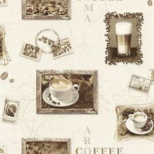 3,26€//1qm Tapete Vlies Kaffeebohne weiß beige Marburg 56626