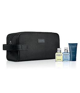 Calvin Klein Eternity for Men Eau De Toilette,After Shave Balm Travel Gift Set