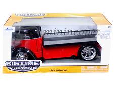 JADA BIGTIME 96959 1947 47 FORD COE FLATBED 1/24 DIECAST MODEL CAR BLACK / RED