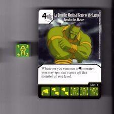 DICE MASTERS YU-GI-OH COMMON CARD WITH DICE #028 LA JINN THE MYSTICAL GENIE LAMP