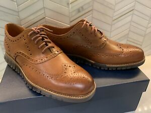 New Cole Haan Zerogrand Wingtip Oxford Shoes C29411 Brown Mens Size 10.5